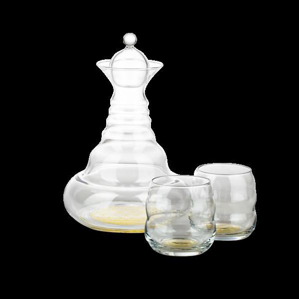 Alladin Karaffe Gold mit 2 Gläsern Mythos Gold