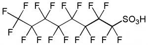 Beispiel eines PFT (hier Perfluoroctansulfonsäure)